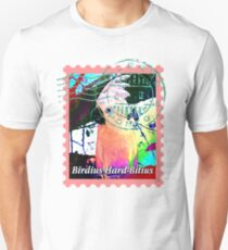 UMBRELLA COCKATOO PSYCHEDELIC POSTAGE STAMP Unisex T-Shirt