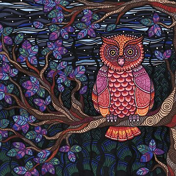 Psychedelic Owl by buggybear
