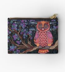 Psychedelic Owl Zipper Pouch