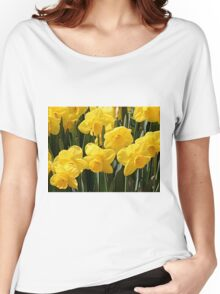 Yellow Daffodil flowers Women's Relaxed Fit T-Shirt