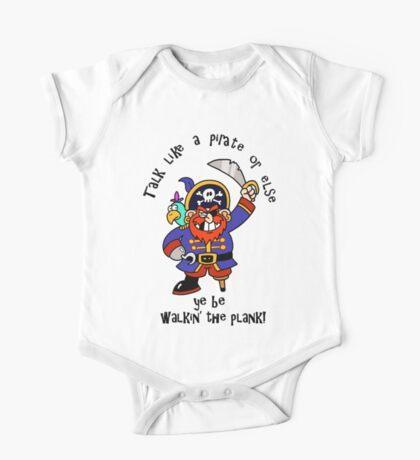 Cartoon Pirate with Peg Leg & Parrot Kids Clothes