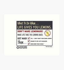 Lemons, portal 2 Art Print