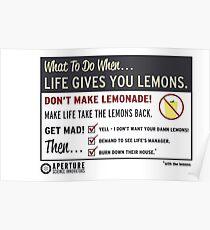 Lemons, portal 2 Poster