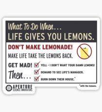 Lemons, portal 2 Sticker