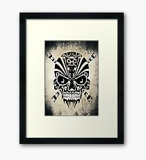 The Devil Inside - Cool Skull Vector Design Framed Print