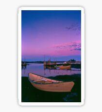 Sunset at Blue Rocks, Nova Scotia Sticker