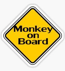 Baby Monkey On Board - Safety Sign Sticker Sticker