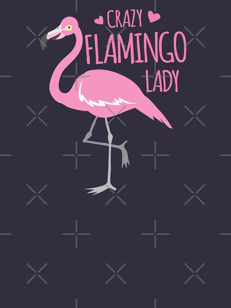 Verrückte Flamingo Dame von jazzydevil