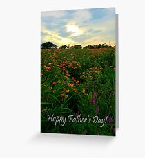 Sunset Meadow Father's Day Greeting Card