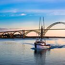 Yaquina Bay Bridge, Newport Oregon at sunset by Doug Graybeal