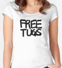 FREE TUGS (black) Women's Fitted Scoop T-Shirt