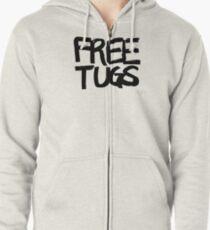 FREE TUGS (black) Zipped Hoodie