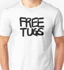 FREE TUGS (black) Unisex T-Shirt
