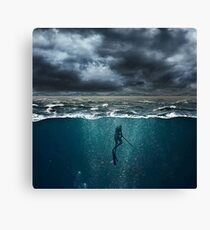 Spearfishing Canvas Print