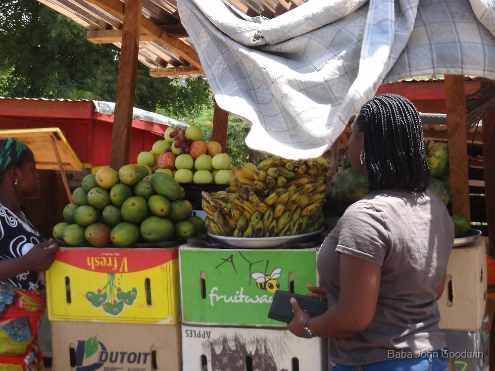 Fruit Stand in Tamale, Ghana(2012) by Baba John Goodwin