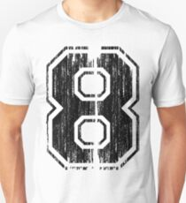 Bold Distressed Sports Number 8 Unisex T-Shirt