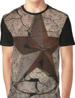 vintage damask rustic western country  texas lone star Graphic T-Shirt