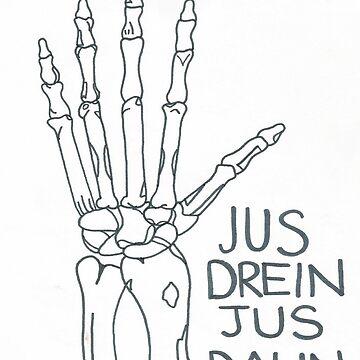 Jus Drein Jus Daun Skeleton Hand de HustlerJauregui