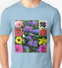 Summer Blossoms Collage Unisex T-Shirt