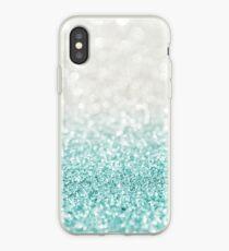 Light Blue Ombre Glitter iPhone Case