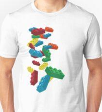 Falling Legos Unisex T-Shirt