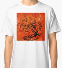 Old and Ancient Tree - Orange Red  Classic T-Shirt