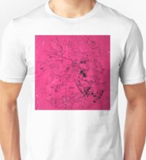 Old and Ancient Tree - Hot Pink  T-Shirt