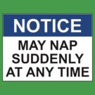 NOTICE: MAY NAP SUDDENLY AT ANY TIME by Rob Price