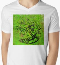 Old and Ancient Tree - Leaf Green  T-Shirt