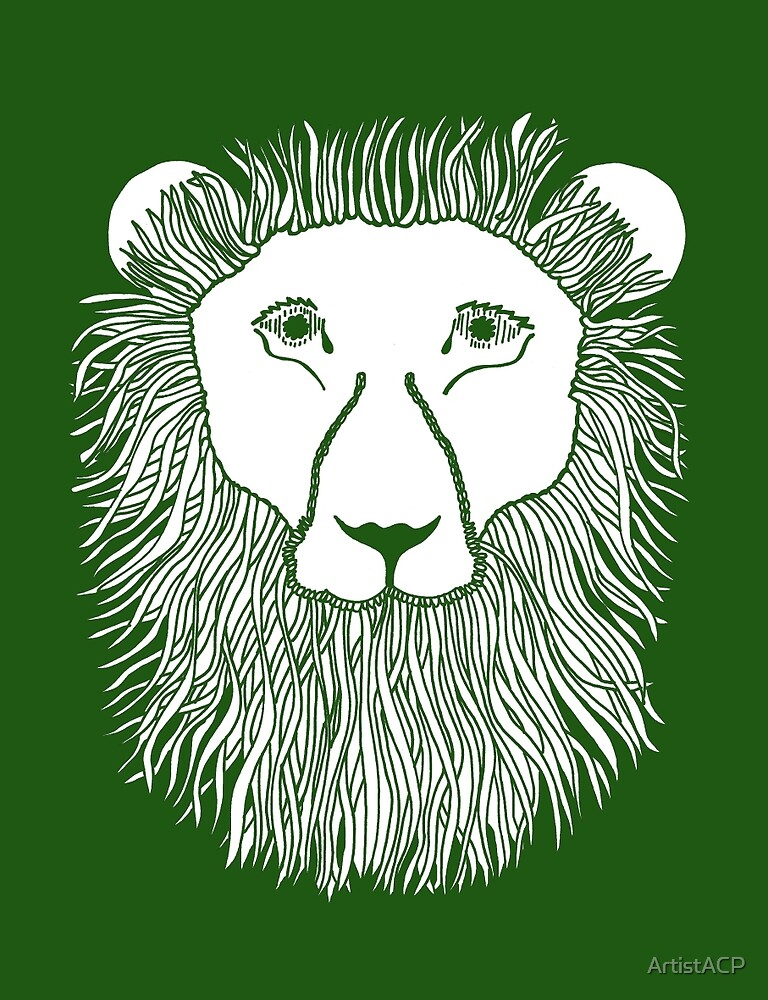 Green Lion Loves You by ArtistACP