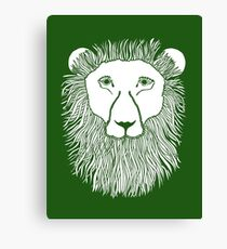 Green Lion Loves You Canvas Print