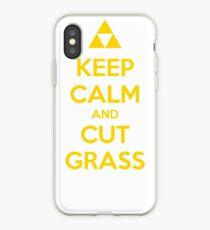 Keep Calm and Cut Grass iPhone Case