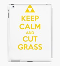 Keep Calm and Cut Grass iPad Case/Skin