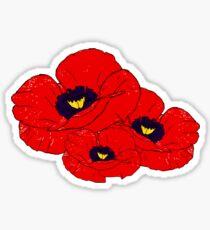 Poppy White Sticker