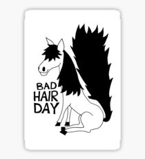 Bad Hair Day Horse Sticker