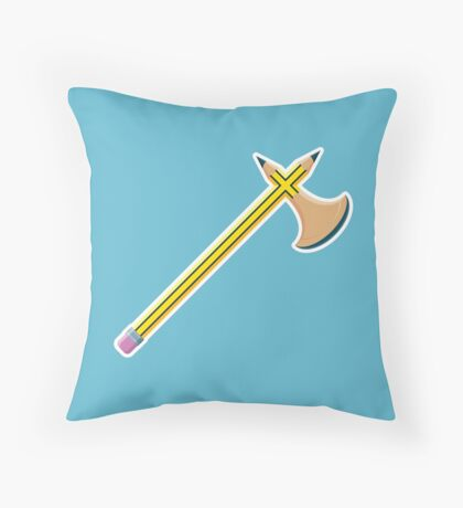 Pencil Battleaxe Throw Pillow