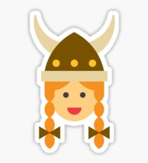 a viking girl Sticker