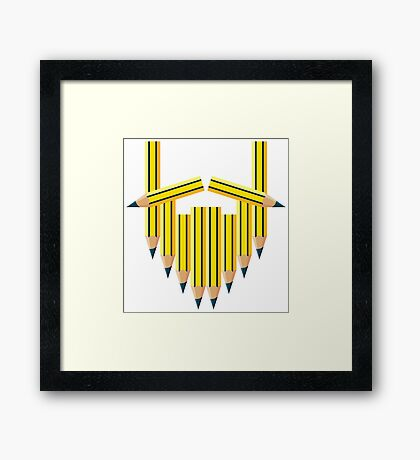 Pencil Beard Framed Print