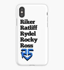List of names and logo! (Blue) iPhone Case
