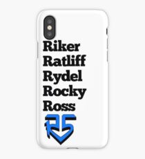 Liste der Namen und Logos! (Blau) iPhone-Hülle & Cover