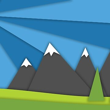 material design mountains by ulrikkc