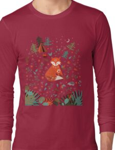 Camping With Fox Long Sleeve T-Shirt