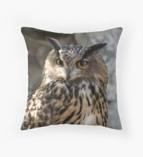 Bubo Bubo - Eurasian Eagle-Owl Throw Pillow