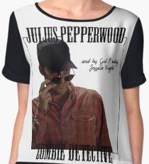 JULIUS PAPPERWOOD ZOMBIE DECTECTIVE Women's Chiffon Top