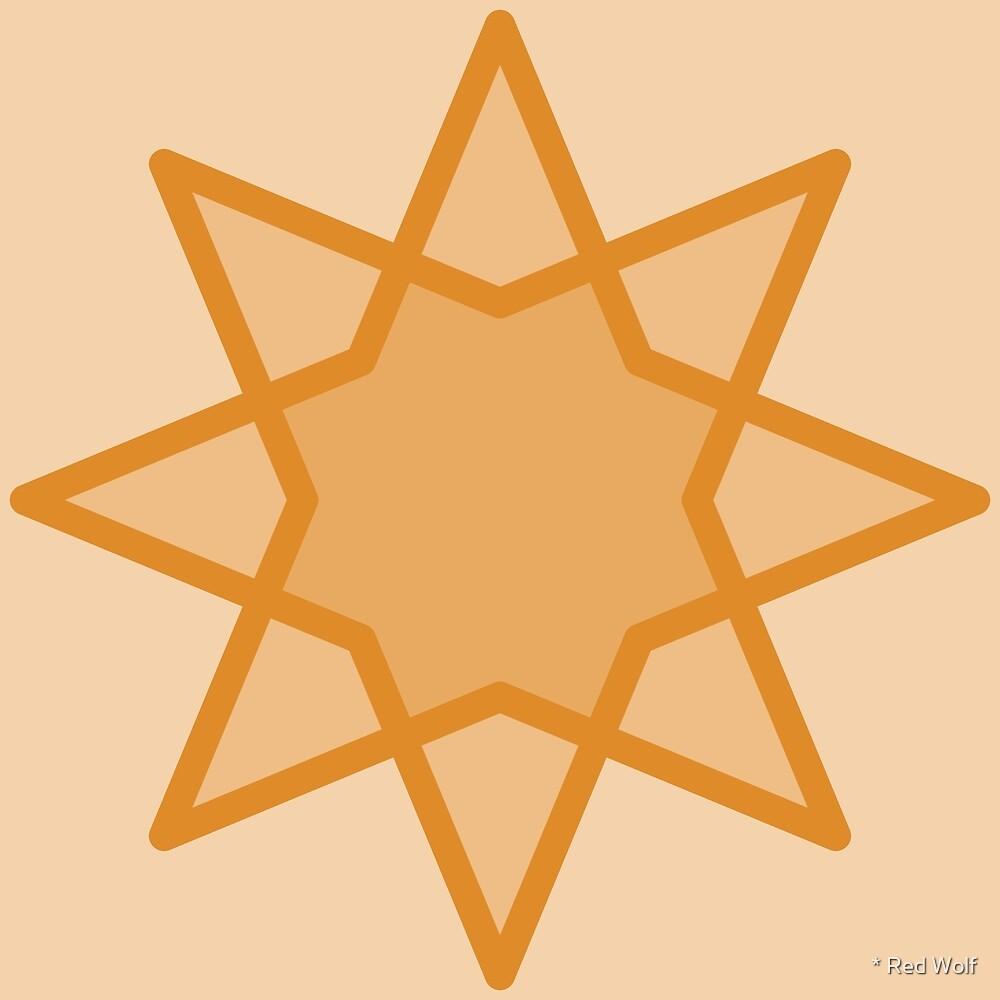 Geometric Pattern: Octagram: Butterscotch by * Red Wolf