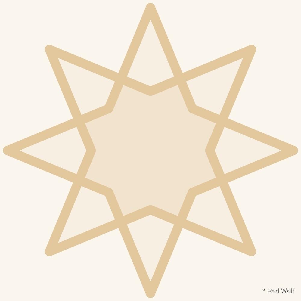 Geometric Pattern: Octagram: Linen by * Red Wolf