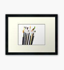 set of brushes for drawing  Framed Print