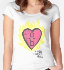 One tree hill- Burning Heart Women's Fitted Scoop T-Shirt