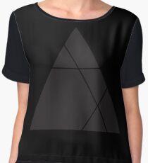 Geometric Triangle 1 Women's Chiffon Top