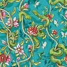 Morning Song - turquoise by Lidija Paradinovic Nagulov